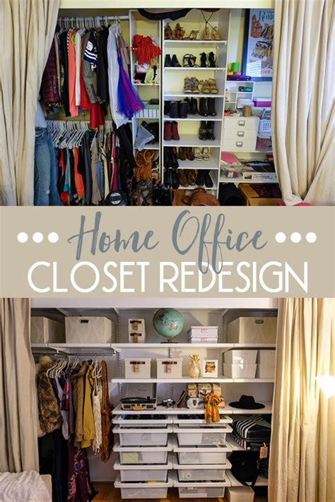 Closet Redesign by Home Office Closet Redesign With The Container Store
