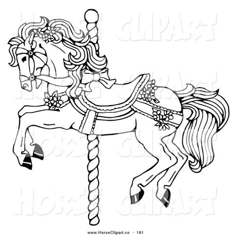 free coloring pages of carousel horses clip of coloring page carousel decorated in bows