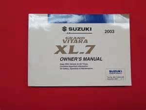 2003 suzuki grand vitara xl 7 owners manual guide book