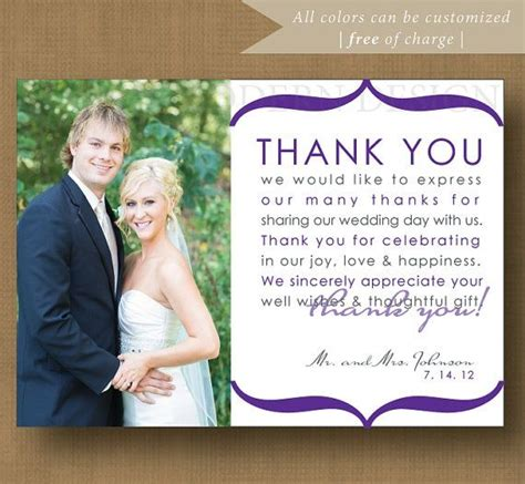 thank you letter after wedding reception 10 best images about wedding thank you exles on