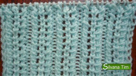 dos agujas paso a paso 1 calados silvana tim tejido con dos agujas puntos patrones de
