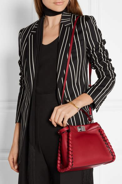 Mccarthy Whips Out The Fendi Again by Fendi Peekaboo Small Whipstitched Leather Tote Net A