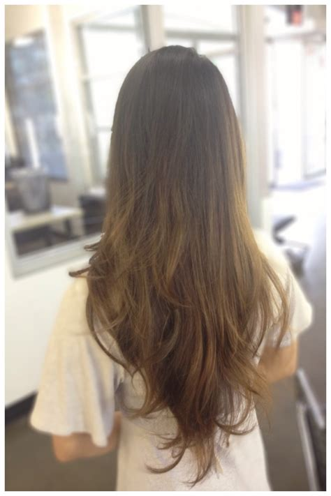 long layers cut towards the back long hair balayage razored carsten cut brown hair ombr 233
