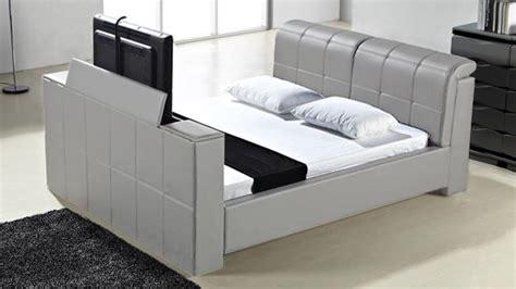 Lit Tele Integre by Vernon Lit Design En Cuir Un Lit Moderne Avec Rangement