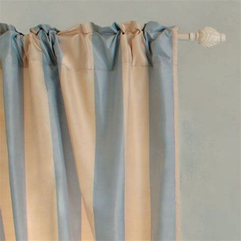 blue and cream drapes pale blue and cream stripe curtain panel