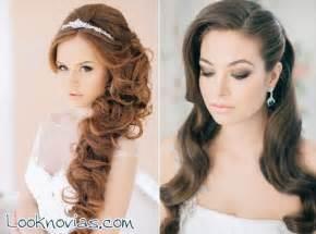 Peinados para novias con pelo largo para tener en cuenta