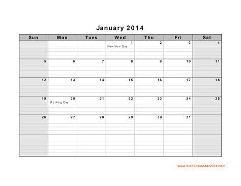calendar blank template 2014 january 2014 calendar printable 9 printable calendar