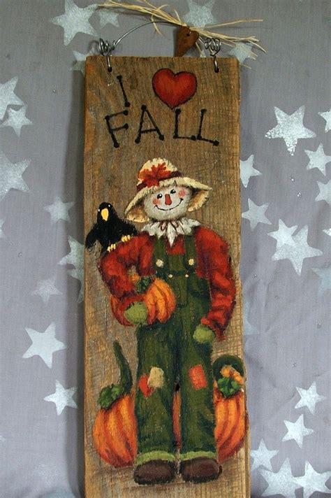 17 Best Images About Tole Painted Crafts And I Fall Scarecrow Painted On Barnwood 5 X