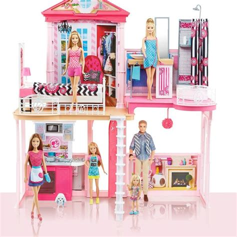 barbie dream house barbie doll barbie dream house pool gift set with three dolls 31 inches tall barbie collectibles