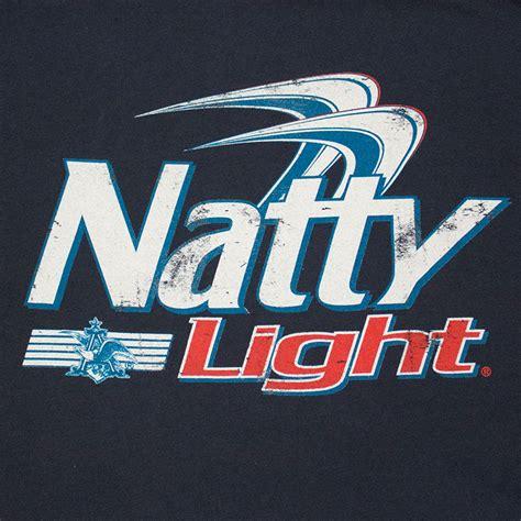 natural light natty light classic logo men s navy blue t shirt