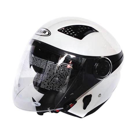 Kaca Helm Zeus Jual Zeus Zs 610 Helm Half White Harga