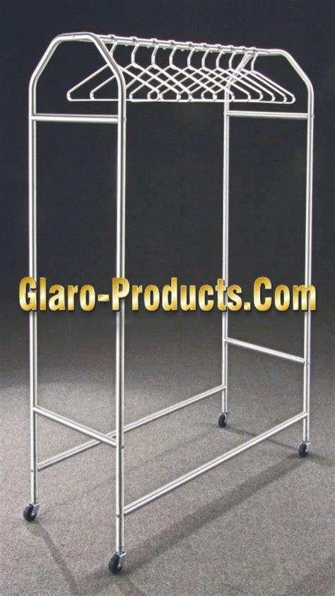 glaro professional heavy duty rolling garment racks