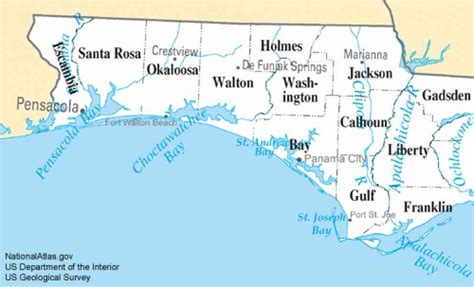 map of the panhandle of florida map of panhandle and west map of panhandle florida holidaymapq com