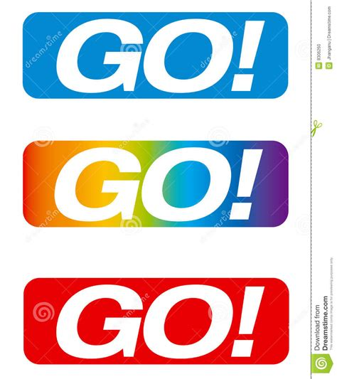 go to video go button stock photo image 8306260
