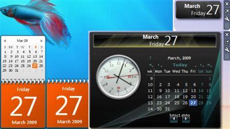 Calendar Desktop Gadget Windows 7 Desktop Gadgets Clock Sticky Notes And More