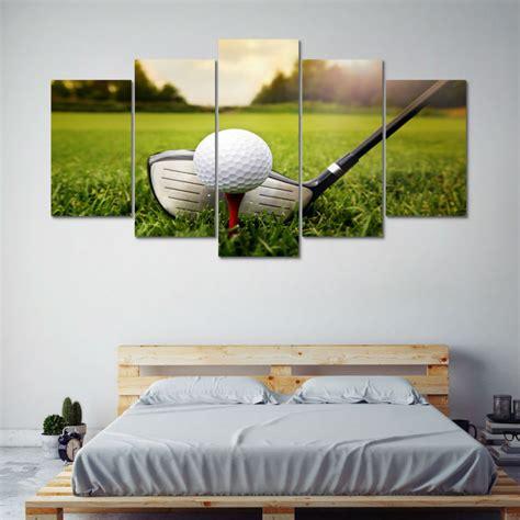 golf home decor golf art prints golf wall decor set of 6 framed 5 piece golf course club golfing poster canvas