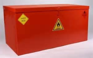 Hazardous Material Storage Containers - fireproof containers fire resistant bins hazardous