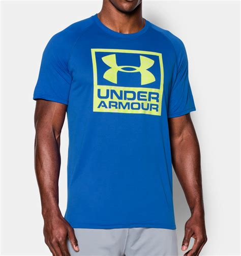 T Shirt Kaos Armour Logo clothing armour tech boxed logo t shirt fitness