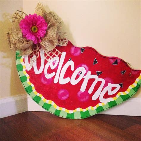 summer door hanger chevron door decor watermelon by watermelon door hanger for summer front door decor