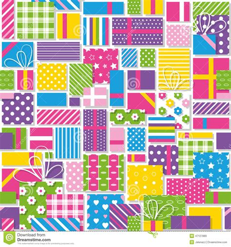 gift paper pattern vector free birthday presents pattern stock vector image 47127889