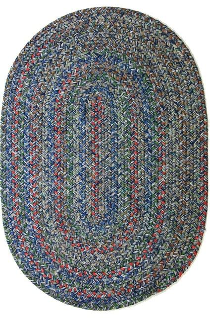 Large Oval Area Rugs 10 X13 Oval Large 10x13 Rug Denim Blue Textured Braided Farmhouse Area Rugs By