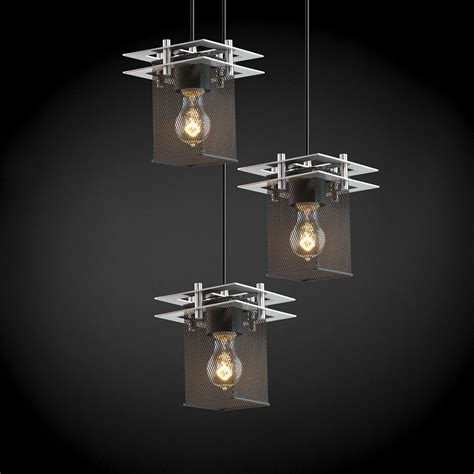 justice lighting fixtures justice design msh 8166 wire mesh contemporary multi hanging light fixture jus msh 8166