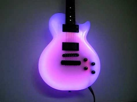 The Light Like A Guitar Only With Light by Vintage Neon Guitar Light Demo 1991 Model