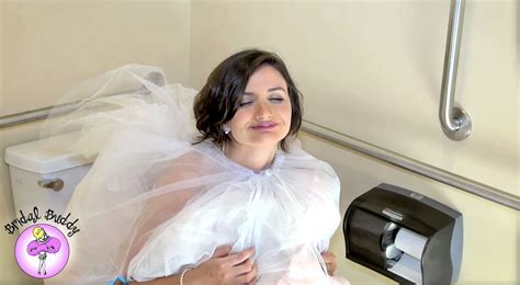 Bridesmaids Bathroom by Bridal Buddy Allows Brides To Use Bathroom Without Help