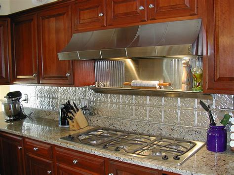 Copper Backsplashes For Kitchens Rustic Kitchen Rustic Kitchen Backsplash