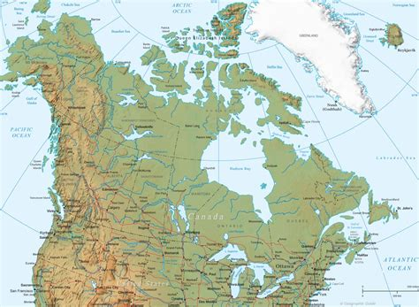 usa and canada physical map canada usa physical map thinglink