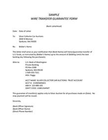 Wire Transfer Letter Format Wire Transfer Template Letter Wire Transfer Request Form Mr168 Co