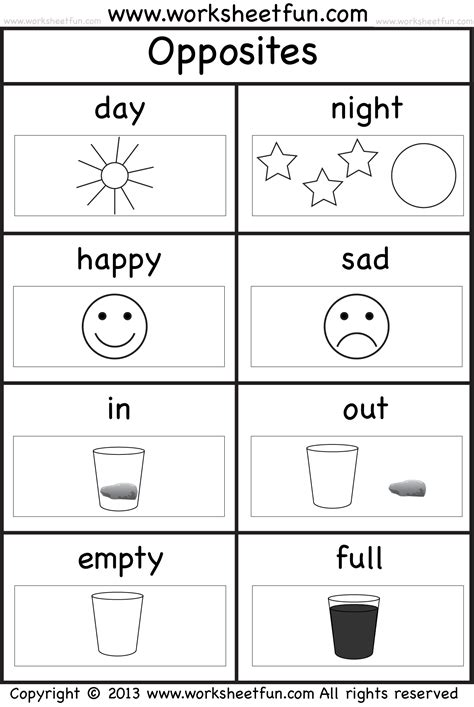 printable opposite games for kindergarten http www worksheetfun com wp content uploads 2013 10