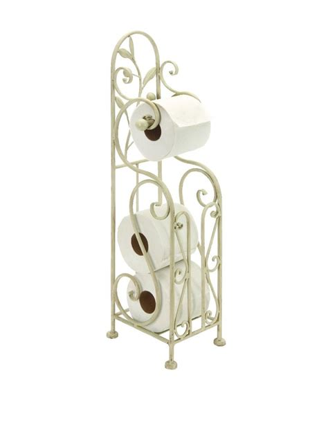 free standing toilet paper holder with storage iron metal toilet paper tissue roll free standing holder