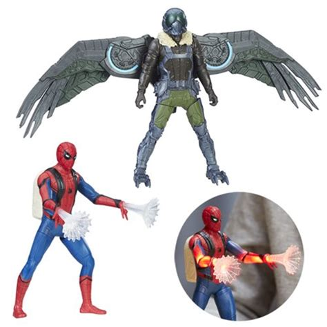 figure features spider homecoming feature figure wave 1 set