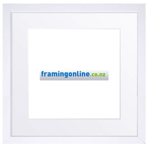 White Frame With Mat by 400x400mm Square White Frame 52 White Mat 400x400mm