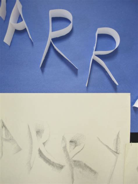 Drawing 7 Letters by Grade 6 7 8 Drawing Ribbon Letters Here And There