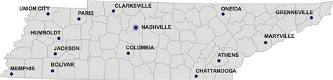 map of tennessee with cities map of tennessee guide of the world
