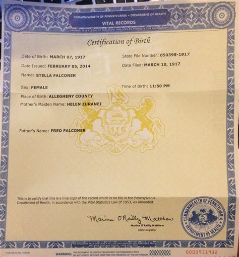 Illinois Vital Records Certificate Birth Certificates Pittsburgh Pa New Look Telephone Number Keila Hernandez