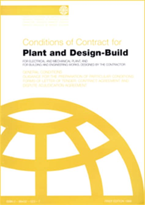 Fidic Design And Build Contract Free Download | fidic yellow book plant and design build contract 1st