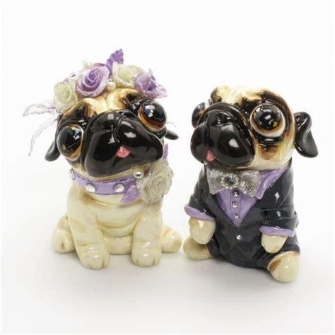 pug wedding cake topper lavender wedding color pug wedding cake topper clay sculpted 00024 madamepomm on