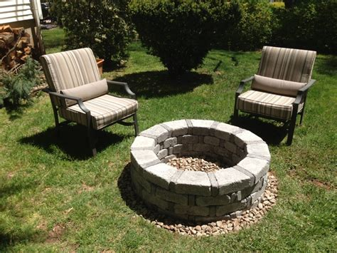 easy firepit dyi pit so easy for the home