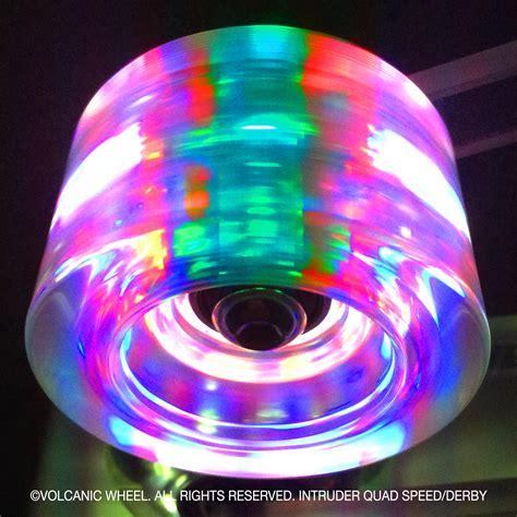 light up roller skate wheels volcanic lightup speed derby skate wheels volcanic wheel