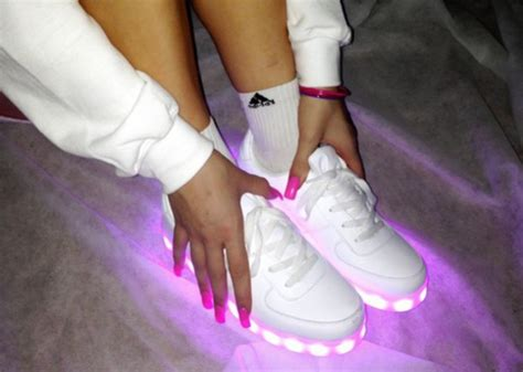 girls light up tennis shoes shoes neon pink shoes led light shoes light up shoes