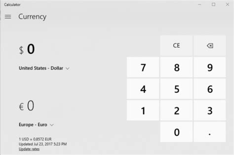 currency converter windows 10 calculator for windows 10 updated with currency converter