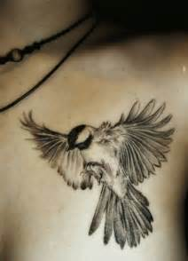 shoulder black white bird tattoo animal tattoos best tats