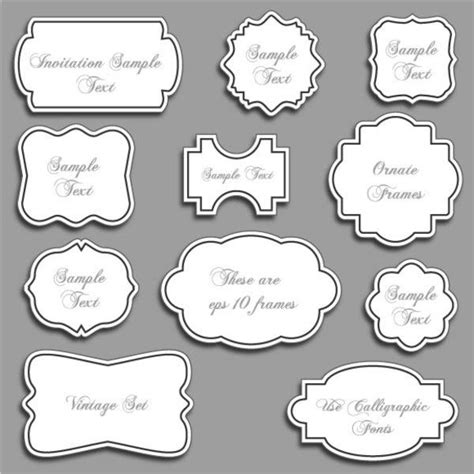 frames vector free 30 free ornaments frames borders vector resources