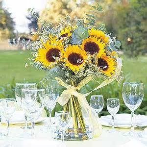 sunflower centerpiece nate and sarah s wedding blog