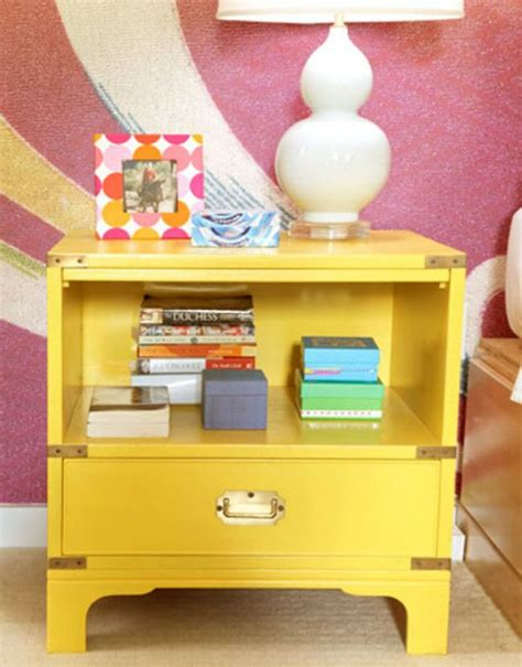 Colorful Nightstands 5 ways to decorate with bright tables
