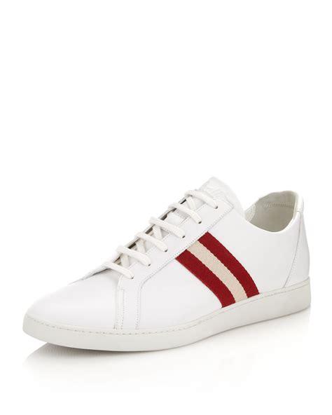 Sepatu Bally Made In Switzerland bally stam tennis shoe in white for null lyst