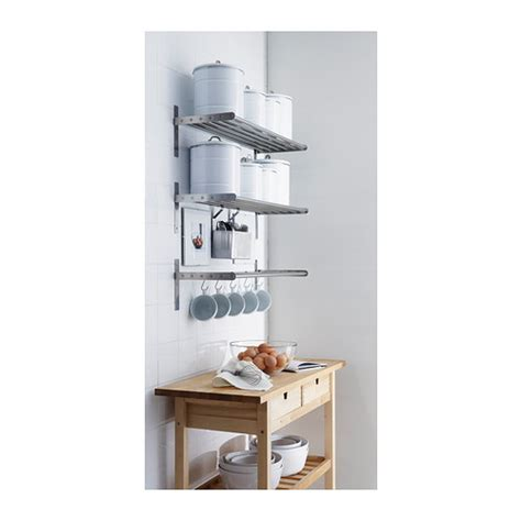 ikea kitchen shelves grundtal wall shelf stainless steel 80 cm ikea